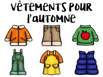 French Vocabulary PowerPoint Presentation – Fall Clothing