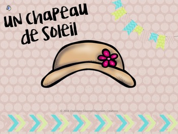 French Vocabulary PowerPoint Presentation – Summer Clothing