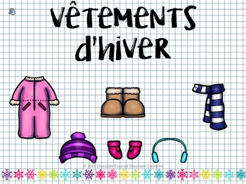 French Vocabulary PowerPoint Presentation – Winter Clothing