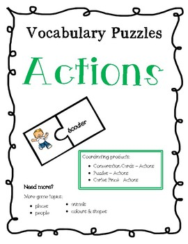 French Vocabulary Puzzles - Actions
