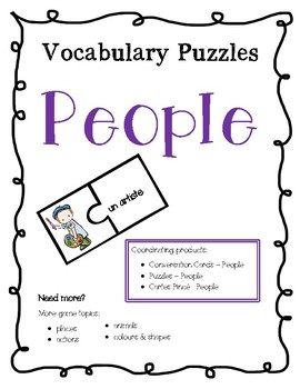 French Vocabulary Puzzles - People