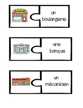 French Vocabulary Puzzles - Places