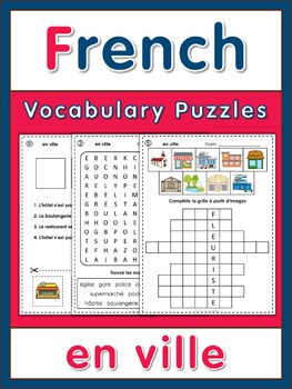French Vocabulary Puzzles  en ville