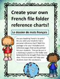 French Vocabulary Reference Folder Le Dossier Ontario French Curriculum