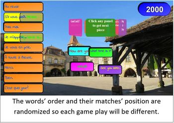 French Vocabulary SMART Board / Interactive Whiteboard Game
