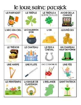French - Vocabulary - St. Patrick's Day