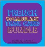 French Vocabulary Task Card Bundle
