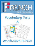 French Beginner vocabulary tests and word search puzzles