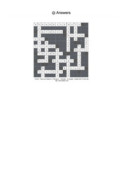 French Vocabulary - Travel and Means of Transport - Crossword Puzzle