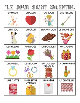 French - Vocabulary - Valentine's Day