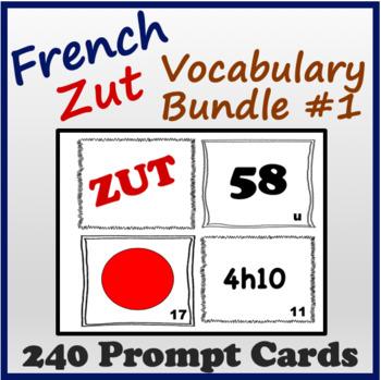 French Vocabulary Zut Cards (Bundle 1)