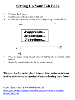 French Vocabulary and Grammar Tab Book Bundle (33 Versions)