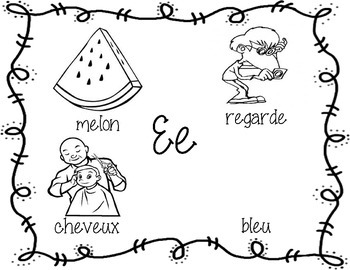 French Vowel Posters