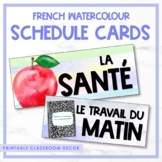 French Watercolour Subject Schedule Cards