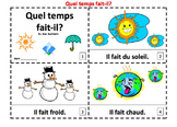French Weather 2 Emergent Reader Booklets - Quel Temps Fait-il?