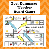 French Weather Expressions Board Game - Quelle dommage!