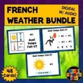 French Weather Digital Flashcards, French Boom Cards, Le Temps
