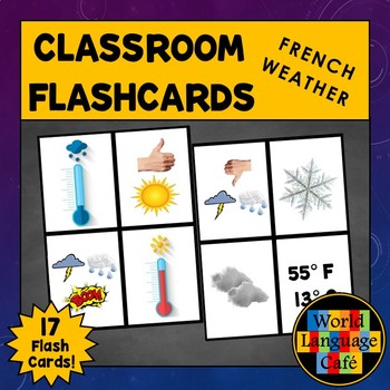 French Weather Flashcards, Le temps Flashcards