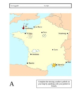 French Weather Information Gap Activity