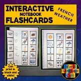 French Weather Flashcards, Interactive Notebook Flashcards, Le Temps
