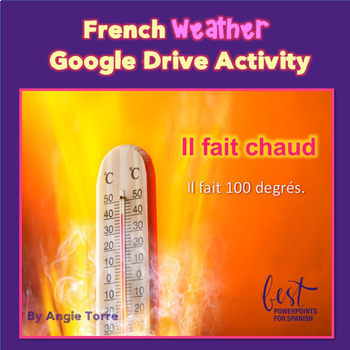 French Weather Interactive Notebook and Google Drive Activity