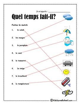 French Weather:  Quel Temps Fait-Il?