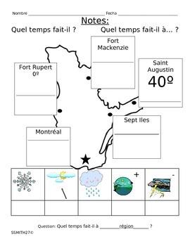 """""""Quel temps fait-il?"""" : French Weather"""