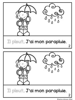 French Weather Reader {Quel temps fait-il?} & Vocabulary Pack ~ Simplified
