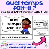 French Weather Reader {Quel temps fait-il?} & Vocab Pack + BOOM™ Version w Audio