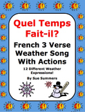 French Weather Song With Actions - Quel Temps Fait-il?