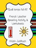 French Weather Speaking Activity & Worksheets