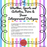 French Weather, Sports and Activities, and Faire & Jouer Speaking Activity