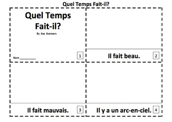 French Weather Version II - 2 Emergent Reader Booklets
