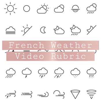 French Weather Video Rubric