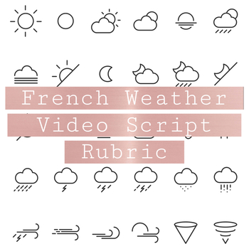 French Weather Video Script Rubric