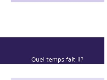 French - Weather Vocabulary