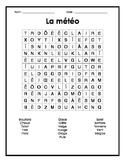 French Weather Word Search Puzzle - Mots cachés français sur la météo/le temps