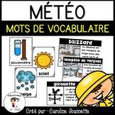 French Weather Word Wall Cards/ Météo - Mots de vocabulaire pour le mur de mots