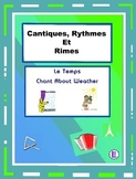 French Weather Words – French Rap-like Musical Chant with exercises and Mp3
