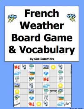 French Weather and Climate Board Game and Vocabulary