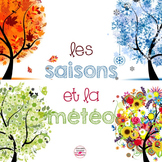 French Weather and Seasons Pocket Chart Cards and Posters