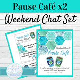 French Weekend Chat Speaking Activity | Pause Café