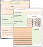 French Weekly Planner