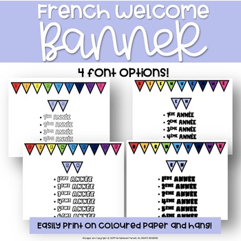 French Welcome Banner – Bienvenue!