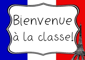 French Welcome Poster - Bienvenue à la classe
