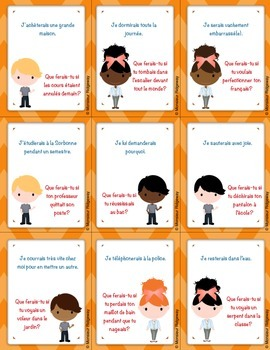 Questions à la chaîne (Si Clauses) -- French Whole-Class Speaking Activity