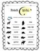 French Wildlife Worksheet Packet