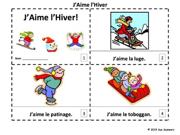 French Winter 2 Emergent Reader Booklets - J'Aime l'Hiver