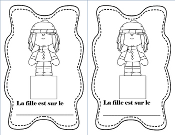 French Winter 2D Shape Book