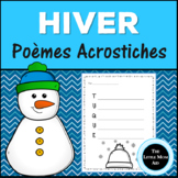French Winter Acrostic Poem Writing | Poème Acrostiche d'H